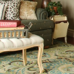 Living Rooms With Blue Area Rugs Dark Wood Floors In Room Remodelaholic 20 Green And You Ll Love