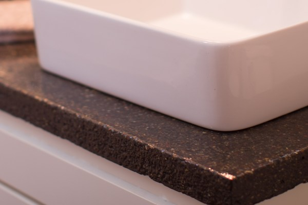 master bathroom renovation with DIY concrete countertops Construction2Style on @Remodelaholic (11)