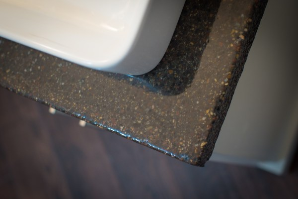master bathroom renovation with DIY concrete countertops Construction2Style on @Remodelaholic (24)