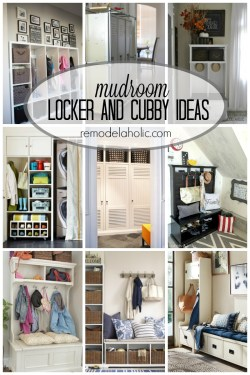 mudroom locker and cubby ideas via remodelaholic.com