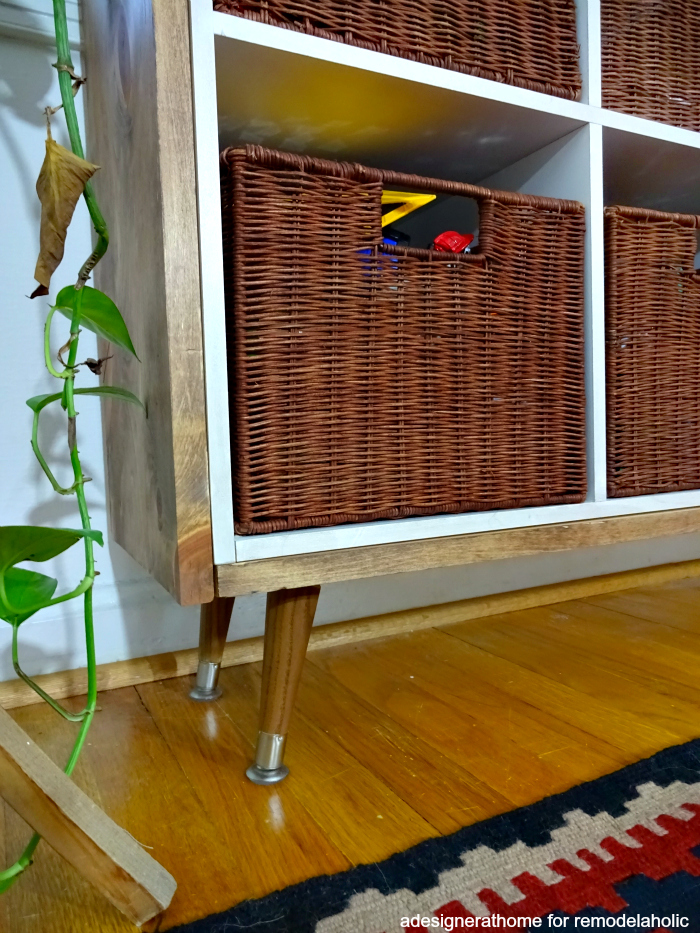 rustic retro toy storage cube organizer makeover