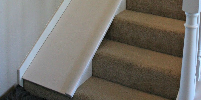 Remodelaholic Diy Stair Slide Or How To Add A Slide To