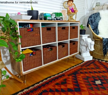 traditional kids storage with a twist