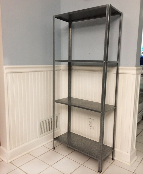 I M Glad I Exist Small Space Solutions: Wood And Metal IKEA Hack Industrial Shelf