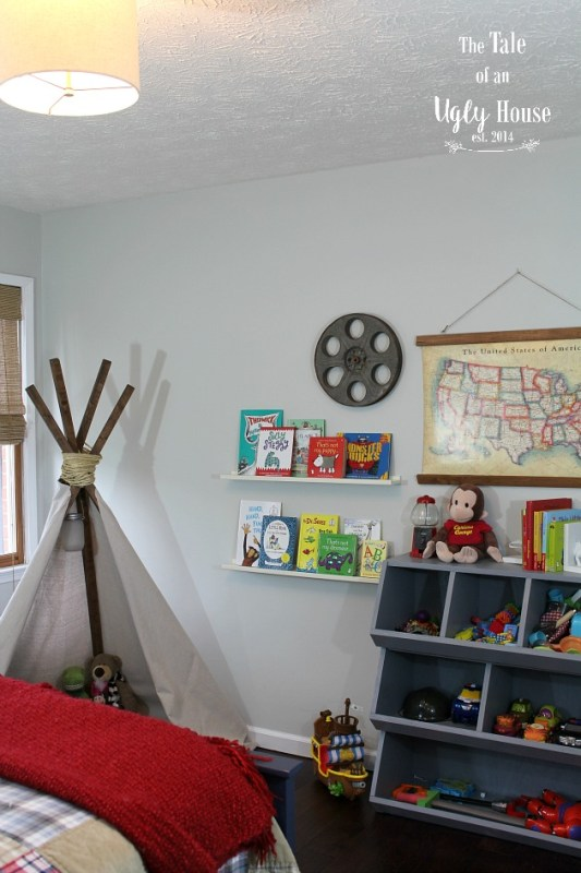 DIY toy cubby tutorial by Tale of an Ugly House featured on @Remodelaholic