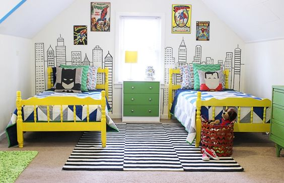 Shared Kids Space Inspiration - modern superhero LOVE
