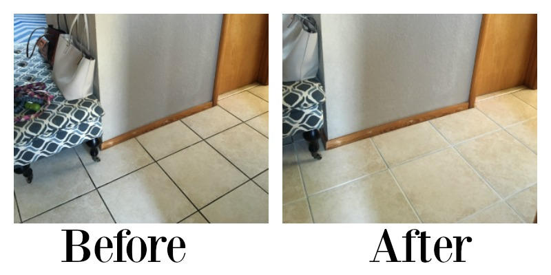 Remodelaholic How To Dye Grout And Refresh A Dated Tile