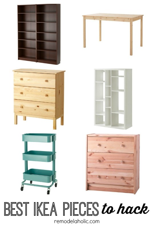 Best IKEA pieces to hack featured on Remodelaholic.com