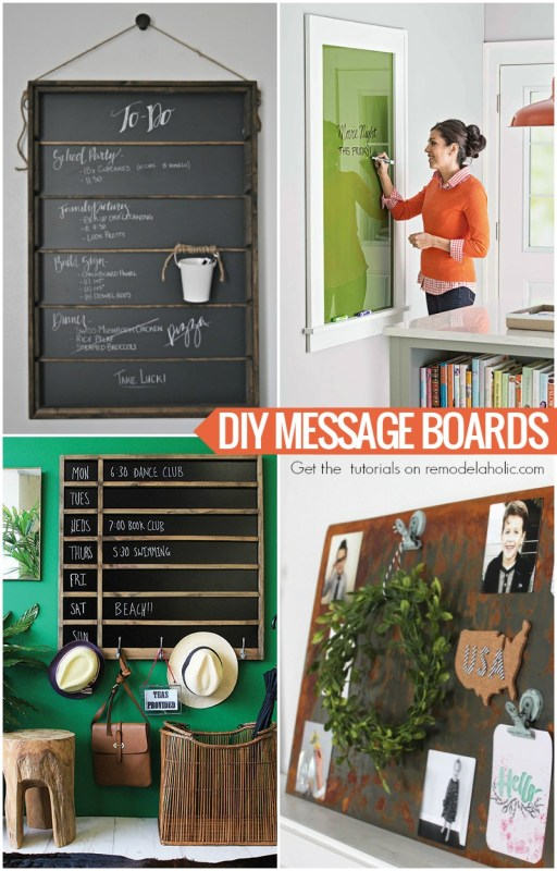DIY message board tutorials @Remodelaholic