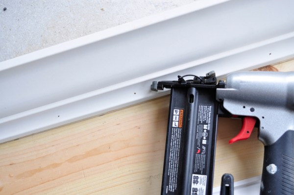 install crown molding on a diy wood window cornice box