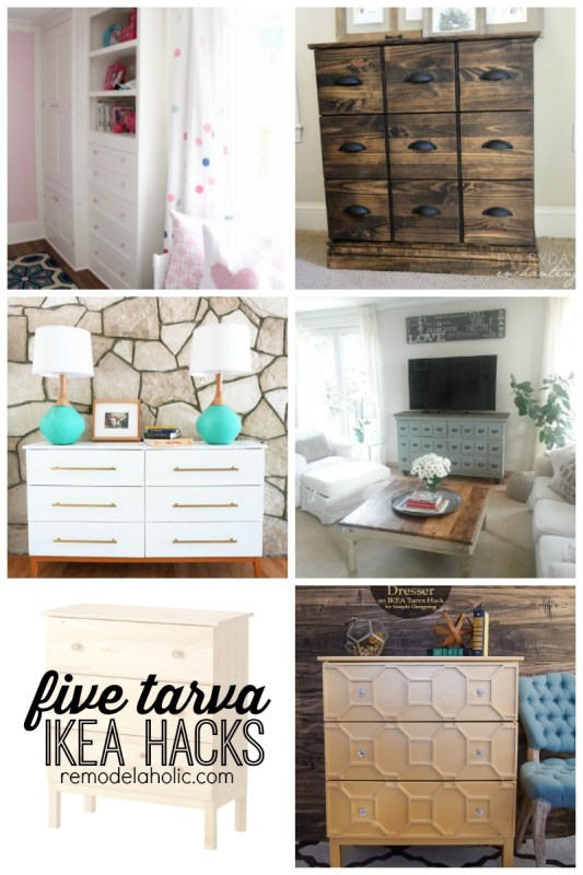 Five Tarva IKEA Hacks featured on Remodelaholic.com