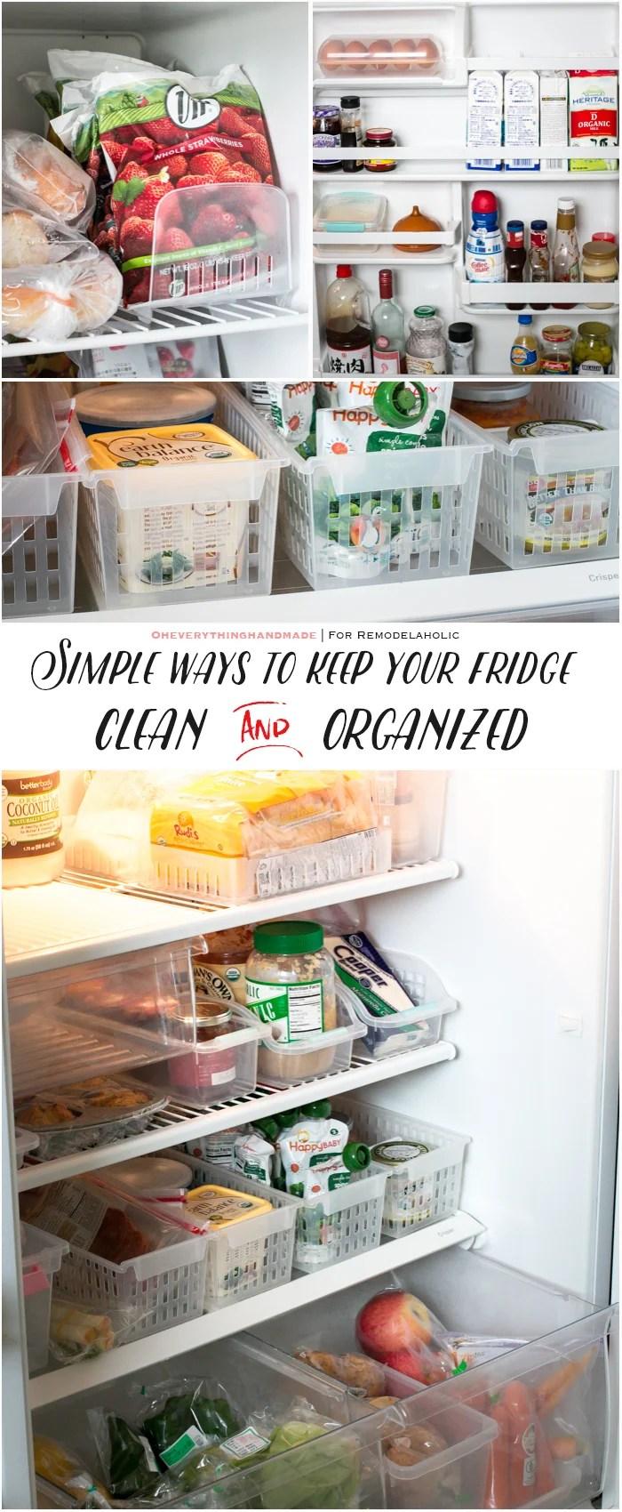 Fridge Organizing Tips- Storage bins - Pinterest