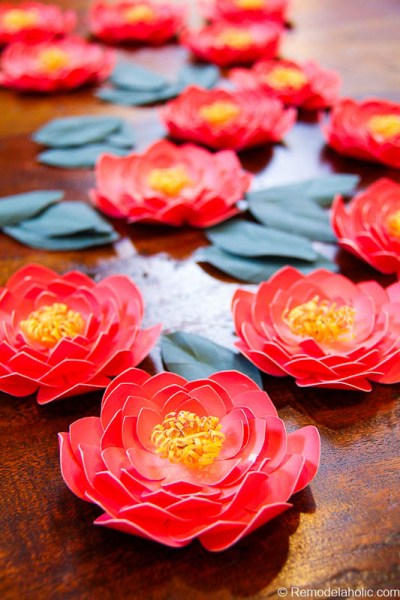 Paper Flower Garland Tutorial with Canon printer @remodelaholic-5765