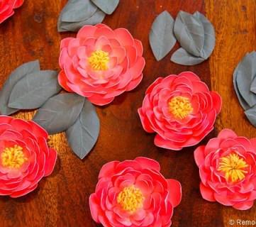 Paper Flower Garland Printable
