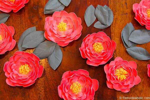 Remodelaholic paper flower garland printable paper flower garland tutorial with canon printer so easy to print double sided and mightylinksfo
