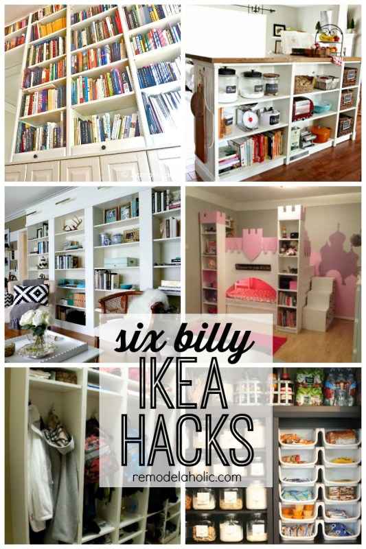 Six Billy IKEA hacks featured on remodelaholic.com