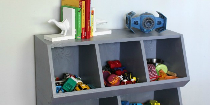 Remodelaholic   How to Build A Toy Cubby Shelf + Boy's ...