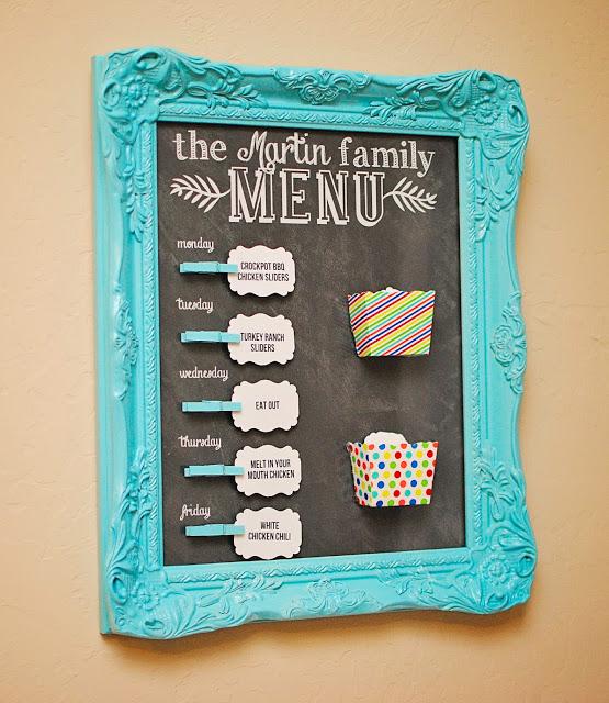 fun and colorful chalkboard menu board