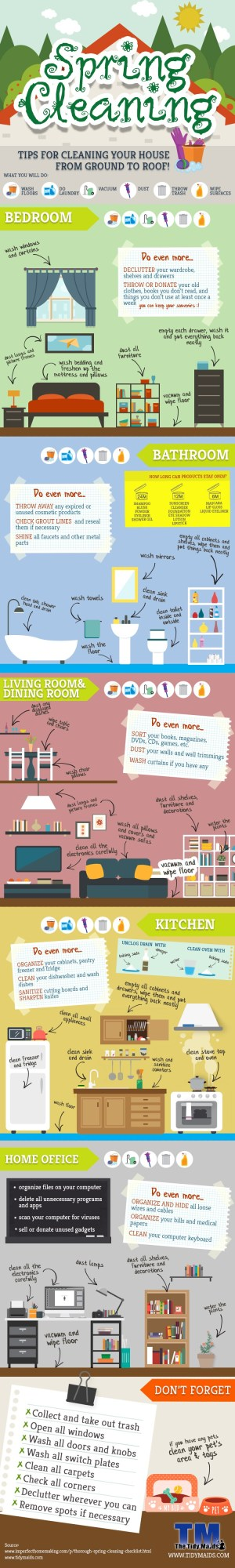 Spring Cleaning 101 -- Don't forget ANYTHING this year! Top to bottom for every room in the house. @Remodelaholic