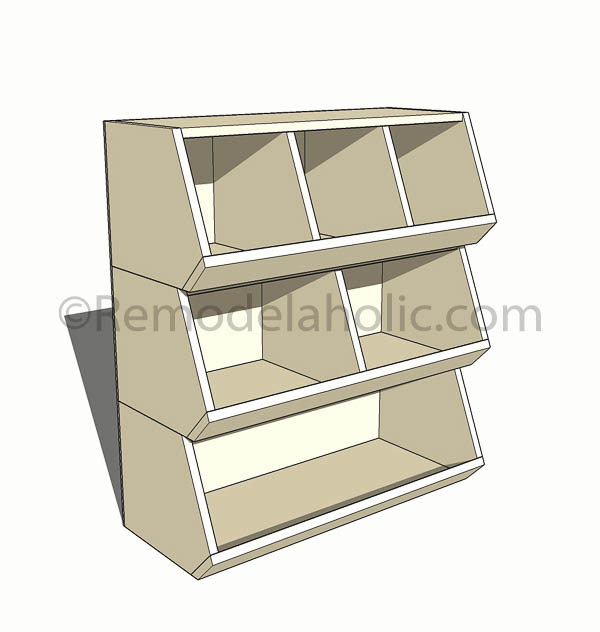 diy cubby storage toy organizer, woodworking plans Remodelaholic