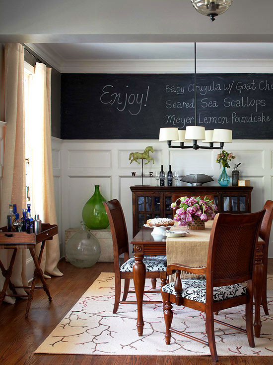 Chalkboard wall menu board better homes and gardens