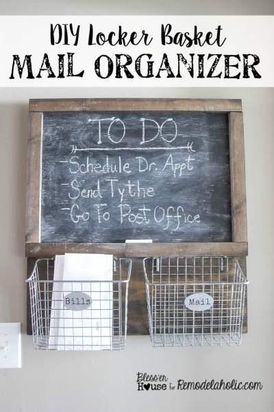 DIY-Locker-Basket-Mail-Organizer