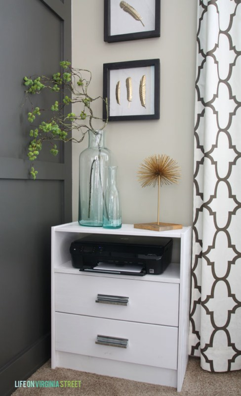 IKEA Rast dresser turned printer stand for an office, Life on Virginia Street