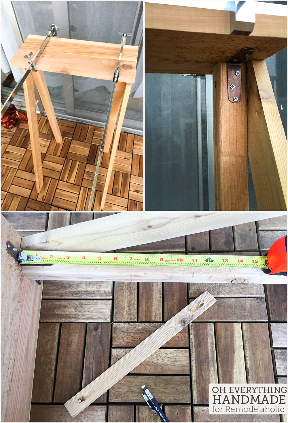 Ladder Plant Stand by OEH- Building instructions - How to attach the horizontal boards