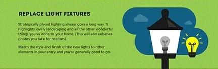 Light fixture curb appeal ideas