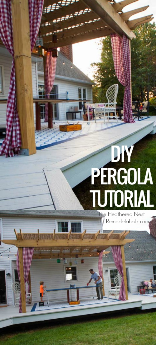 Make your backyard deck even more amazing this summer with this custom diy pergola tutorial