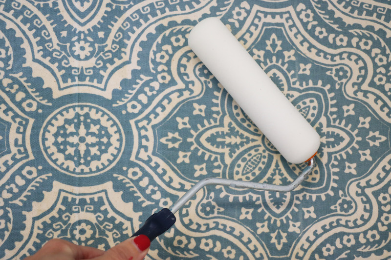 Rolling a Starched Fabric Wall