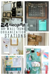 24 awesome DIY wall-hung organization stations - remodelaholic
