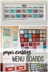 paper crafting menu boards featured on remodelaholic.com
