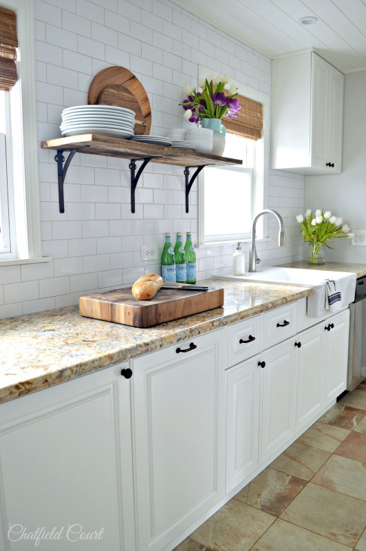 DIY white kitchen remodel for under $3000, Chatfield Court for @Remodelaholic