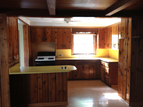 cheap cabinets for kitchen lighting fixtures remodelaholic   renovation: updating knotty pine ...