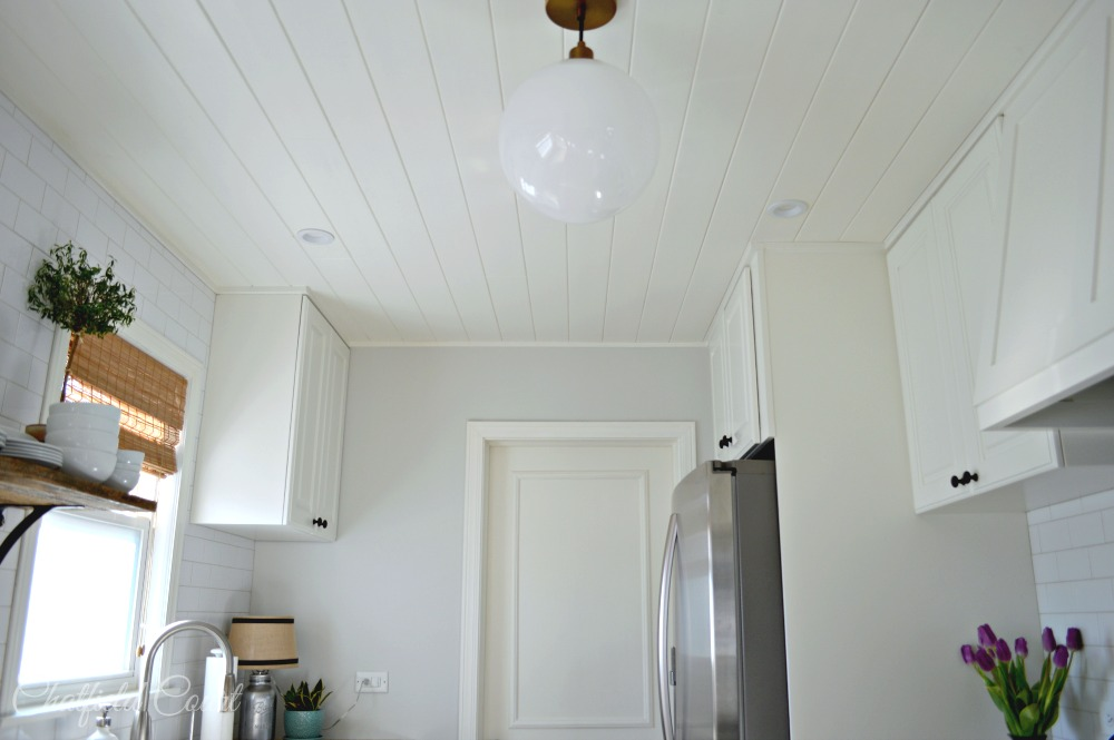 Superior Stunning Small Kitchen Remodel, DIY Plank Ceiling, By Chatfield Court  Featured On @Remodelaholic