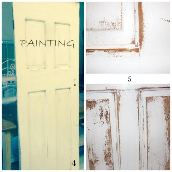 How to paint and distress antique doors, by Simple Nature Decor featured on @Remodelaholic