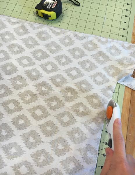 Cutting fabric for Ottoman