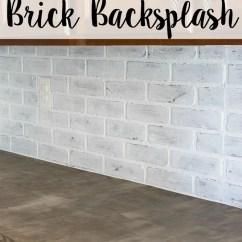 Faux Brick Kitchen Paint Remodelaholic Diy Whitewashed Backsplash