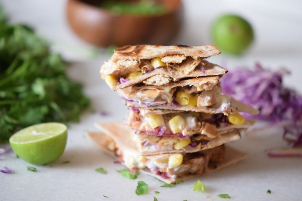 A quick and easy meal Chicken Taco Quesadillas