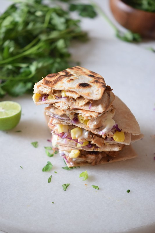 Chicken Taco Quesadillas a perfect quick dinner for weeknights