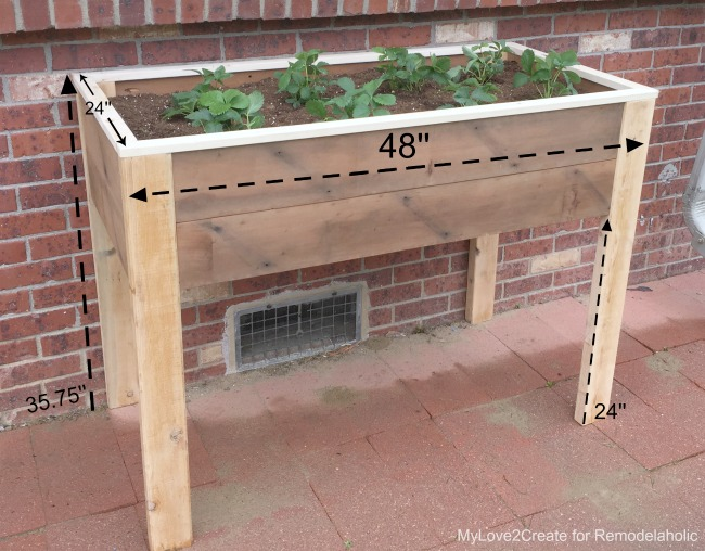 Remodelaholic Build An Elevated Planter Box And Save