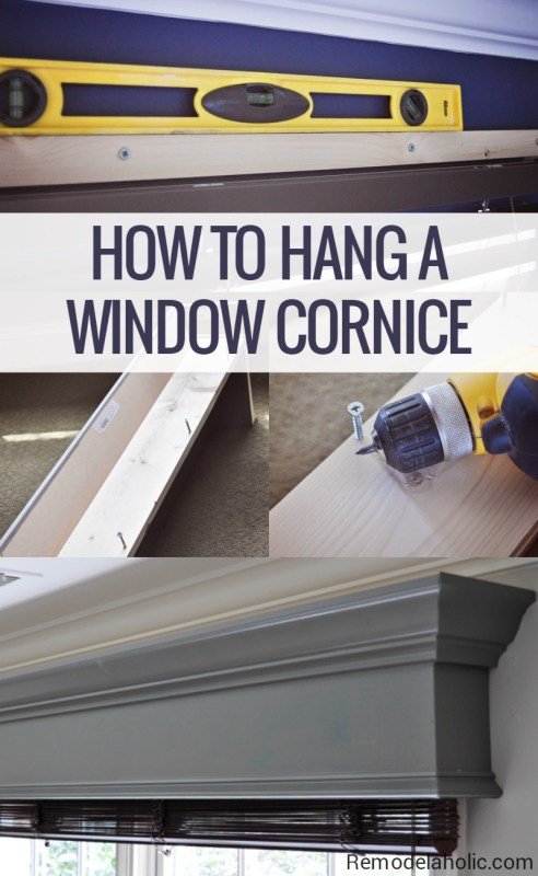How to build and hang a wood window cornice, window valance box