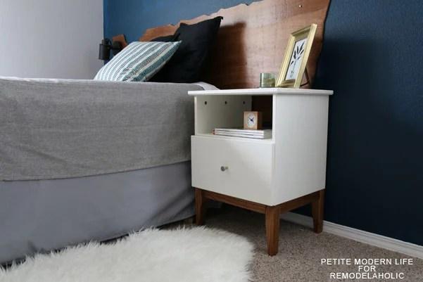 Remodelaholic  Easy Mid Century IKEA Tarva Nightstand Hack