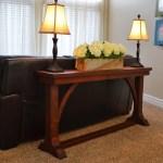 Narrow Sofa Table plans iso