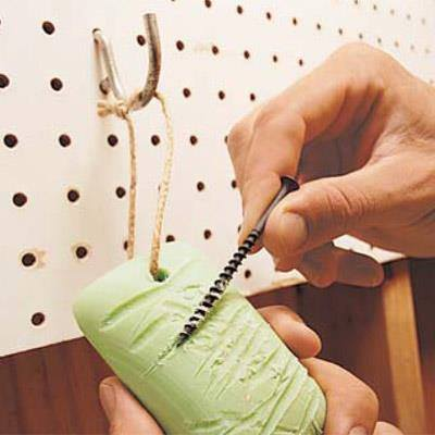 Smart tip! Use soap to make driving screws easier, no stripping screws or splitting wood. via The Family Handyman