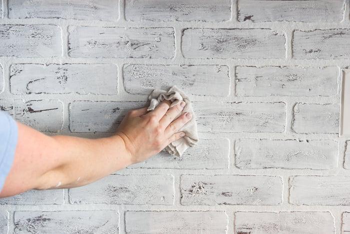 Whitewashed faux brick backsplash (14 of 18)