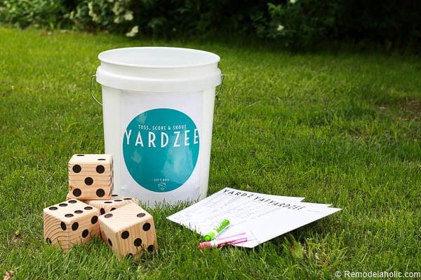 graphic regarding Yardzee Printable named Remodelaholic Yardzee Backyard garden Cube Video game Information + Printables