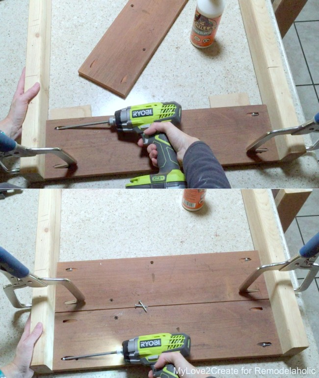 building sides of planter box with legs, MyLove2Create for Remodelaholic