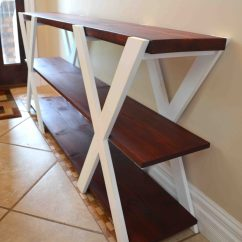 How To Build A Simple Bookcase Sofa Table Chocolate Brown Sectional Remodelaholic Diy Double X Console
